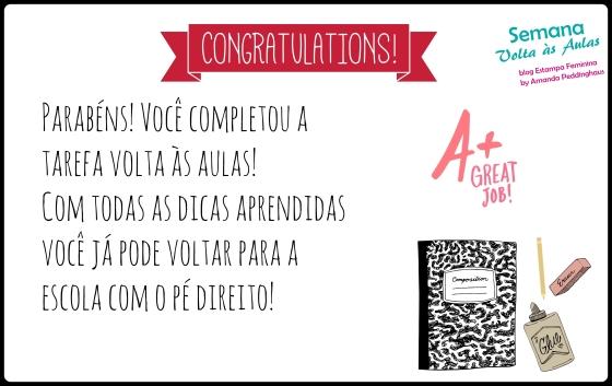 Parabéns!